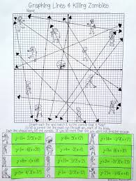 graphing lines zombies point slope form algebra students student practice worksheet answers 3dc023d2cecc0bb53bc7d6c49b8 point slope form