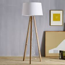 tripod wood floor lamp west elm australia lamps