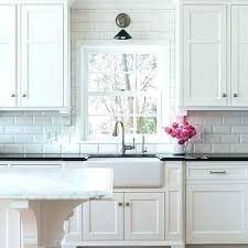 white gray subway marble backsplash tile beveled kitchen traditional remodel by of from full size