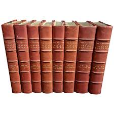 leather bound books for collection of series classic old leather bound books for book harry potter