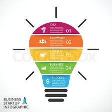 Vector Light Bulb Infographic Stock Vector Colourbox