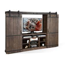 sunny designs puebla charred oak barn door wall unit weekends only furniture