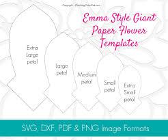Style Templates Giant Dahlia Flower Template Emma Style