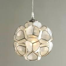 capiz pendant light shade