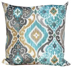 Persian Mist Outdoor Throw Pillows Square Set of 2 Modern