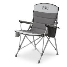 outdoor camping chair. CORE Folding Padded Hard Arm Chair With Carry Bag Outdoor Camping