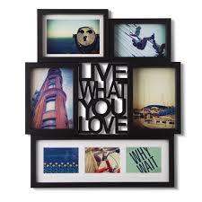 umbra wallflower wall decor white set: umbra motto photo display bl umbra mantra love wall decor