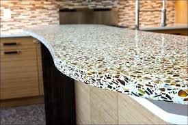 concrete countertops with glass how to make broken