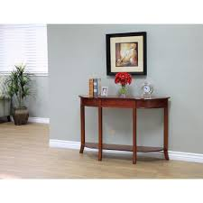 walnut brown storage console table