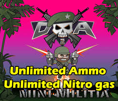 mini militia ultra mod pro unlimited nitro ammo no reload and fly through walls