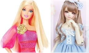 ball jointed dolls. barbie doll -vs- ball jointed dolls a