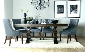 dining table with grey