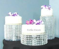 glass wedding cake stand quick view diy set of 3 acrylic or chain crystal chandelier by
