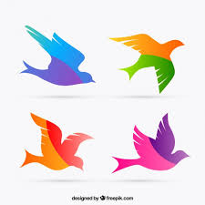 colorful birds flying clipart. Beautiful Flying Colorful Bird Silhouettes Premium Vector On Birds Flying Clipart I