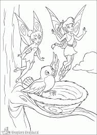 Kleurplaat Elf Colorin Year Round Fairy Coloring Pages Bird