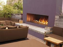 oll48fp single carousel outdoor linear see through fireplaces