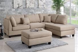 reversible chaise sofa. 3PCS SAND FABRIC REVERSIBLE CHAISE SECTIONAL SOFA SET PD7605 Reversible Chaise Sofa M