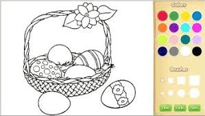 Online coloring pages for kids and parents. Online Easter Coloring Book
