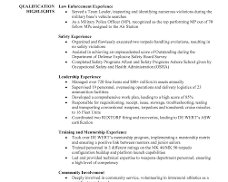 Military Flight Officer Resume Sample Military Police Resume 7