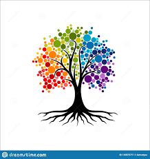 Tree Of Life Graphic Design Abstract Vibrant Tree Logo Design Root Vector Tree Of