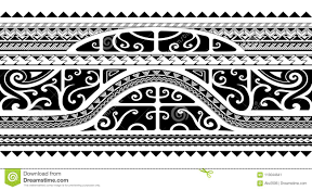 Tribal Style Arm Band Tattoo Seamless Stock Vector Illustration
