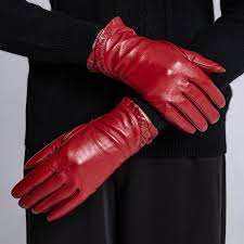 2019 sumusan women red leather gloves full finger black villus gloves lady winter thick warm sheep leather mittens from juaner 52 0 dhgate com