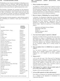 Tax Withholding Chart For Employers Withholding Kentucky Income Tax Pdf Free Download