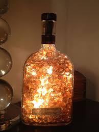 beautiful lighted glass bottle