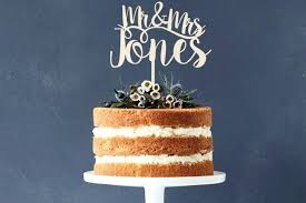 Laser Cut Wedding Cake Topper Were Married Rustic Dogs