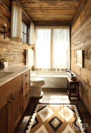 western bathroom designs. Luxurious Marble Sourced In Montana Acts As A Stylish Counterpoint To The Massive Log Construction In. Lodge BathroomWestern Western Bathroom Designs