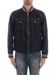 ikrix dsquared2 denim jacket denim leather sleeve er jacket