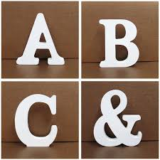 Us 0 85 21 Off 1pc 8x8cm White Wooden Letters Alphabet Word Personalised Name Design Art Craft Free Standing Wedding Heart Home Decor English In