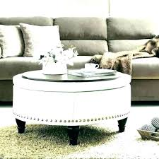 tufted coffee table ottoman grey round beautiful