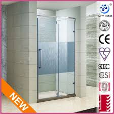 wall to wall frameless hinged shower screen enclosure 46 60 inch w 3