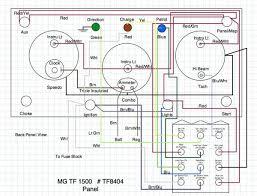 mg tf wiring diagram? t series & prewar forum mg experience 1952 MG TD Starter Button dash panel with fuse block jpg