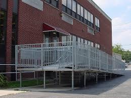 aluminum sectional ramp brick building