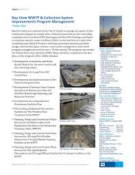 Design And Construction Of Water Treatment Plant Bay View Wwtp And Collection System Improvements Program