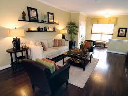 Living Room. Stunning Decorating Ideas Using Rectangular White Fabric Sofas  And Rectangular White Rugs Also