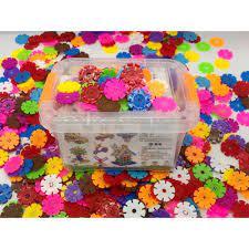 Bộ đồ chơi xếp hình lắp ghép hình bông hoa cho bé