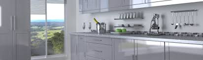 kitchen doors and drawer fronts in silver high gloss