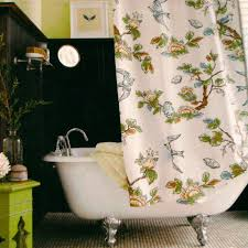 appealing white flower pattern motif target threshold curtains with white bathtub and searugs