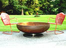unique fire pit bowl inch medium depth pedestal base firepit metal elegant diy ideas grill