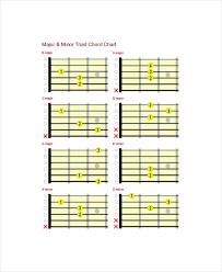 Complete Guitar Chord Chart Template 5 Free Pdf Documents
