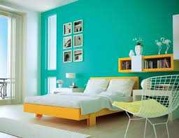 Awesome Apartment Bedroom Decorating With Light Blue Wall Paint And Modern  Bed Furniture Design Also Using Wooden Floor Decor