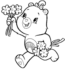 Small Picture Care Bears A Handful Of Flowers Care Bears Coloring Pages