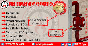 Fire Department Connection According To Nfpa 13 Fire