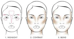 contouring makeup for round face