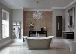 chandelier design for gray bathroom