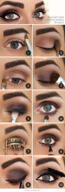 makeup tutorials for green eyes navy purple matte smokey shadow easy eyeshadow video