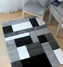 cosmos black grey handcarved rug 120x170cm